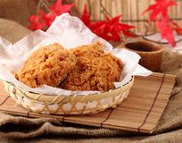 Fried chicken in breast. Stock Photo
