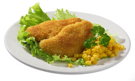 Fried chicken breasts Royalty Free Stock Images
