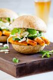 Fried Chicken Burger Royalty Free Stock Image