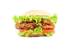 Fried chicken Burger Royalty Free Stock Photos