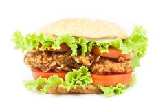 Fried chicken Burger Royalty Free Stock Photo