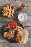 Fried chicken in buttermilk Royalty Free Stock Photo