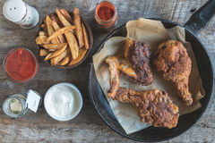 Fried chicken in buttermilk Stock Photography