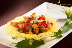 Fried chicken cartilage. Chinese cuisine Royalty Free Stock Photography
