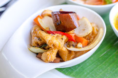 Fried chicken with cashew nut Stock Photo