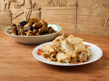 Fried chicken and Chinese chenpi duck stew Royalty Free Stock Photography