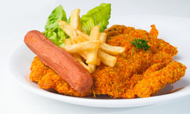 Fried chicken chop on background Royalty Free Stock Images