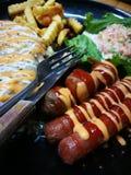 Fried Chicken Chop & x28; Cogumelo Sauce& x29; fotos de stock
