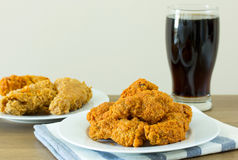 Fried chicken with cola Royalty Free Stock Photos