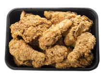 Fried chicken in container Stock Photos