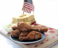 Fried chicken and cornbread 3 Stock Photography