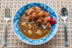 Fried Chicken Curry du Japonais Image stock