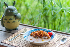 Fried Chicken Curry du Japonais Photos stock