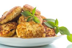 Fried chicken cutlets Royalty Free Stock Images