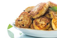Fried chicken cutlets Stock Photo