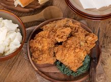 Fried Chicken Dinner Stock Images