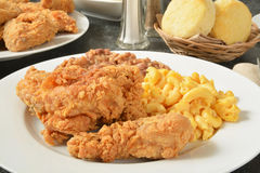 Fried chicken dinner Royalty Free Stock Images
