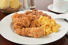 Fried chicken dinner Stock Photo