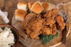 Fried Chicken Dinner Stock Photos