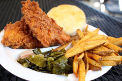 Fried chicken dinner with sides Stock Photography
