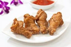 Fried Chicken Drumlets Arkivbild