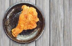 Fried Chicken Drumstick. Crispy fried chicken lag or Fried Chicken Drumstick Royalty Free Stock Images