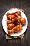Fried chicken drumstick Stock Photos