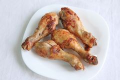 Fried chicken drumsticks Royalty Free Stock Image