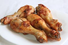 Fried chicken drumsticks Royalty Free Stock Photo