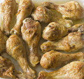 Fried chicken drumsticks Stock Photos