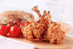 Fried chicken drumsticks Stock Images