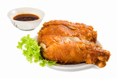 Fried chicken drumsticks  isolated Stock Images