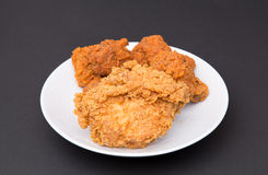 Fried  Chicken Extra Crispy. Extra Crispy Fried Chicken with spicy hot wings Royalty Free Stock Images