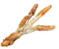 Fried chicken feet, bited Stock Image