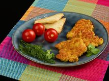 Fried chicken fillet royalty free stock images