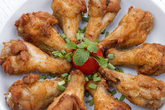 Fried chicken with fish sauce Royalty Free Stock Photo