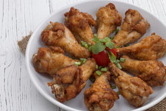 Fried chicken with fish sauce Royalty Free Stock Images