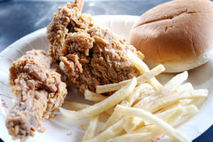 Fried chicken & French fries Stock Image