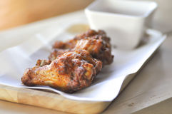 Fried chicken or grilled chicken Stock Photo