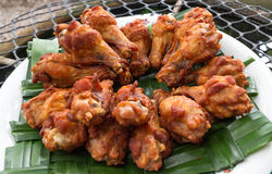 Fried chicken. Homemade fried chicken drumsticks cooking with original thai style Stock Photography