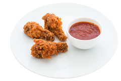 Fried chicken is isolated Stock Photos