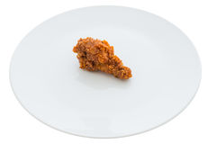 Fried chicken is isolated Stock Images
