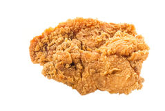 The fried chicken isolated on white background. Close-up. The fried chicken isolated on white background Stock Photo