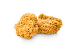 Fried chicken isolated white background stock photography