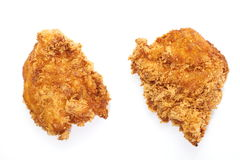 Fried chicken in isolated white Stock Image
