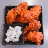 Fried Chicken. In korean Stock Image