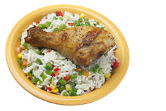 Fried chicken leg. Stock Image