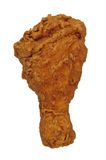 Fried Chicken leg. Isolated over a white background with a clipping path Stock Images