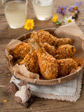 Fried chicken leg Royalty Free Stock Photo