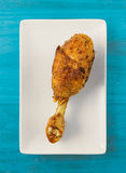 Fried chicken leg. Royalty Free Stock Image